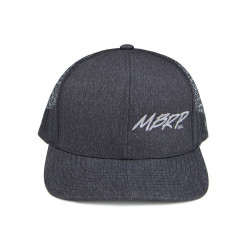 MBRP Snapback Cap Charcoal Grey with Grey Stitch L-XL