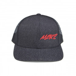 MBRP Snapback Cap Charcoal Grey with Red Stitch L-XL