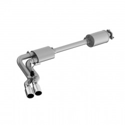 "3"" Cat Back, Pre-Axle Dual Outlet, T304, Street Version"