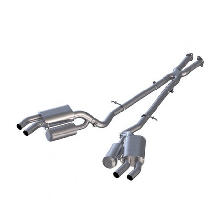 "2.5"" Cat Back, Dual Rear Exit, Aluminized"