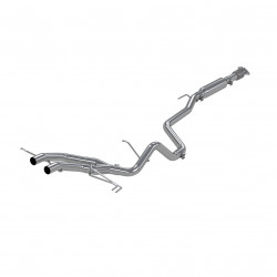 "2.5"" Cat Back, Dual Exit, Aluminized"