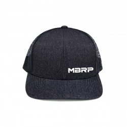 MBRP Snapback Cap Charcoal Grey White Stitch