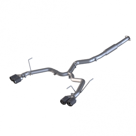 "MBRP Subaru WRX and WRX STI, Race Version, 3"" Cat-Back, Dual Split Rear Exit, T304 and Carbon Fiber Tips"