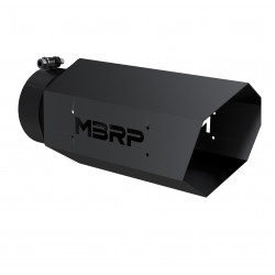 "UNIVERSAL 4"" HEXAGON SHAPE MBRP BLK SERIES EXHAUST TIP"