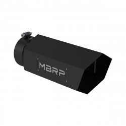 "UNIVERSAL 6"" HEXAGON SHAPED BLK SERIES MBRP EXHAUST TIP"