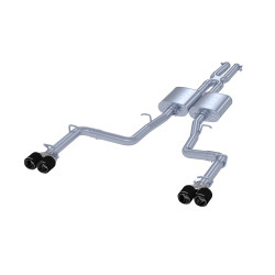 """T 304 Stainless Steel 2.5"""" Cat Back Dual Rear Exit with Carbon Fiber Tips"""
