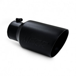 """Tip, 6"""" O.D. Dual Wall Angled 4"""" inlet 12"""" length - Black Finish"""